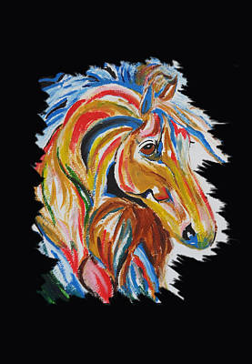 Love Triangle Painting - Horse by Art Spectrum