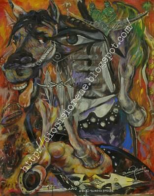 Horse Shoe Gnana Yoga Art Print