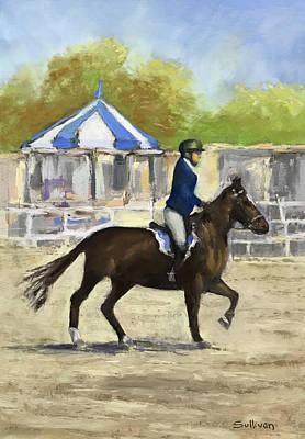 Pastel - Horse Show by Dennis Sullivan