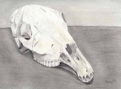 Horse Skull Art Print by Mendy Pedersen