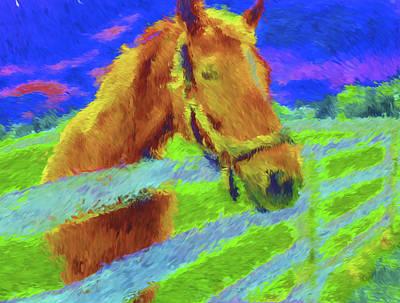 Horse Sky By Nixo Art Print