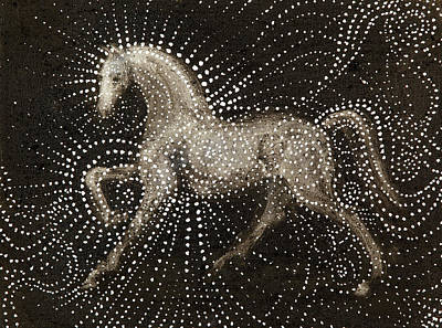 Dark Horse Painting - Horse by Sophy White
