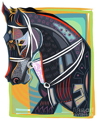 Belmont Stakes Painting - Horse Soul by Dania Sierra