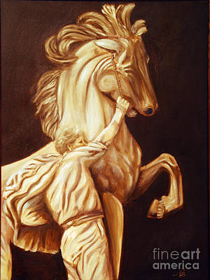 Painting - Horse Statue by Nancy Bradley