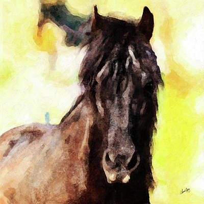 Digital Art - Horse Study #28 by Chamira Young