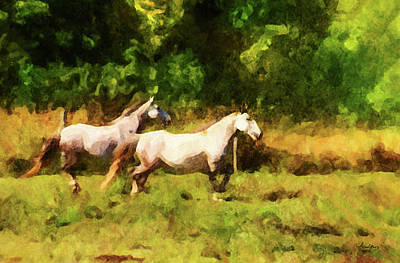 Digital Art - Horse Study #29 by Chamira Young