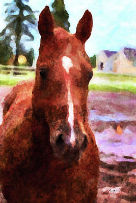 Digital Art - Horse Study #33 by Chamira Young