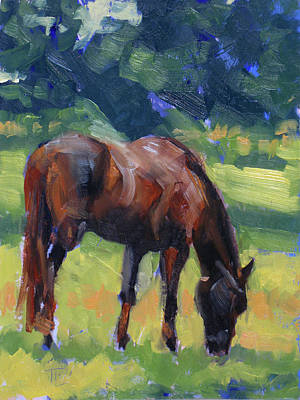 Horse Study No.40 Art Print by Tracy Wall