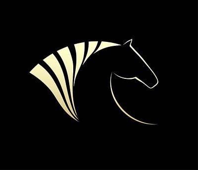 Purebred Digital Art - Horse Symbol Vector by Mikhail Puhachou