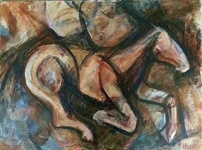 Race Horse Painting - Horse by Tara Hunt