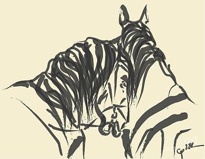 Horse - Together 9 Art Print