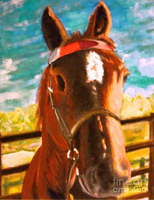 Handicapped Painting - Horse Tommy by Jean-Marie Poisson