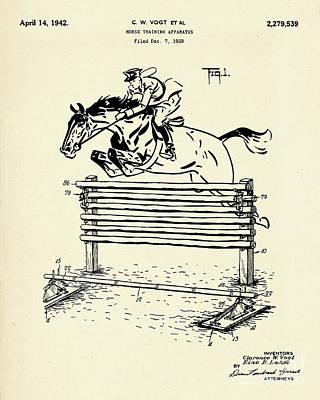 Horse Training Apparatus-1942 Art Print by Pablo Romero