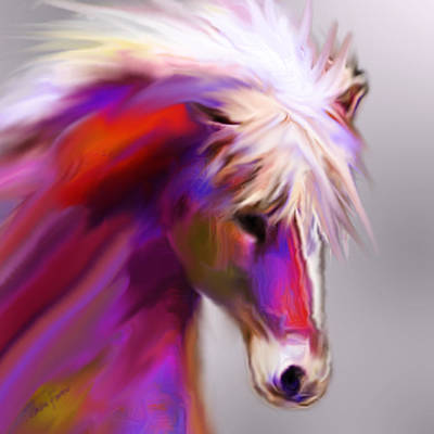 Painting - Horse True Colors by Jackie Flaten