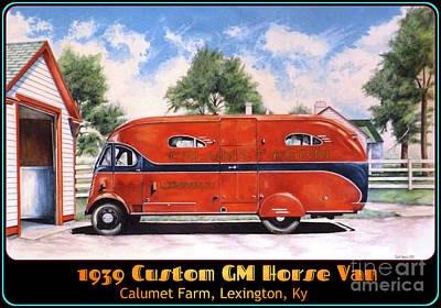Red Barns Drawing - Horse Van by David Neace