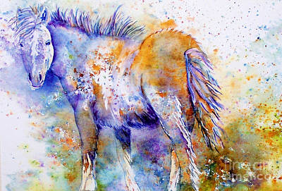 Abstract Equine Painting - Horse Whisper by Donna Martin