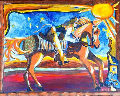 Painting - Horse Whisperer by Jayne Kerr