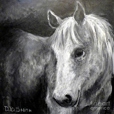 Painting - Horse With The Mona Lisa Smile by Deborah Smith