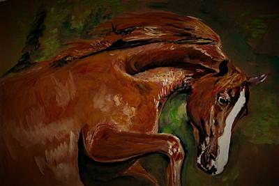Painting - Horse With White Splotch by Khalid Saeed