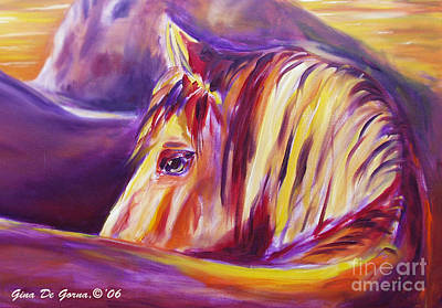 Painting - Horse World Detail by Gina De Gorna
