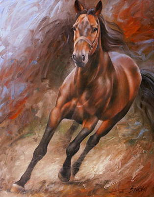 Horse Artwork Painting - Horse2 by Arthur Braginsky