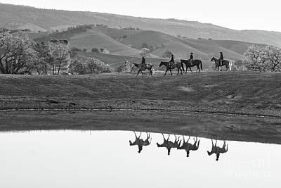 Photograph - Horseback Landscape by Ana V Ramirez