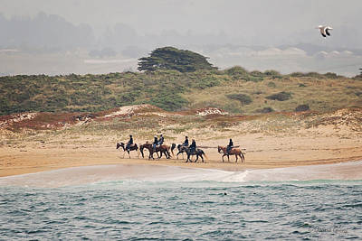 Photograph - Horseback Riding On The Beach by Deana Glenz