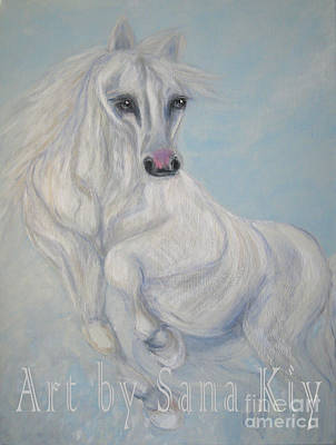 Painting - Horse. Good Fortune.  Portrait by Oksana Semenchenko