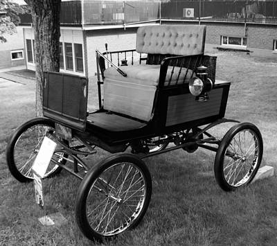 Photograph - Horseless Carriage-bw by Charles HALL