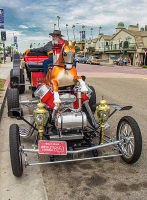 Photograph - Horseless Carriage, Huntington Beach, California by Venetia Featherstone-Witty