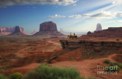 Photograph - Horsemen At John Ford's Point by Priscilla Burgers