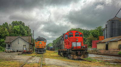 Photograph - Horsepower Plus Historic Madison Train Station Madison Georgia by Reid Callaway
