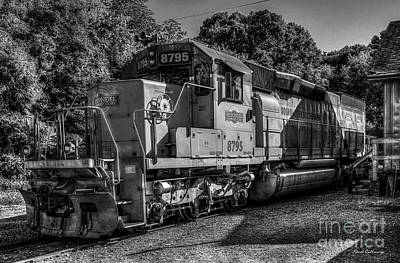 Photograph - Horsepower Plus Squaw Creek Southern Rail Road Locomotive Train Art by Reid Callaway