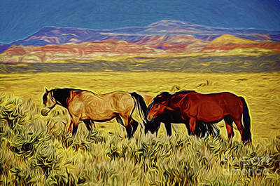 Photograph - Horses 19518 by Ray Shrewsberry