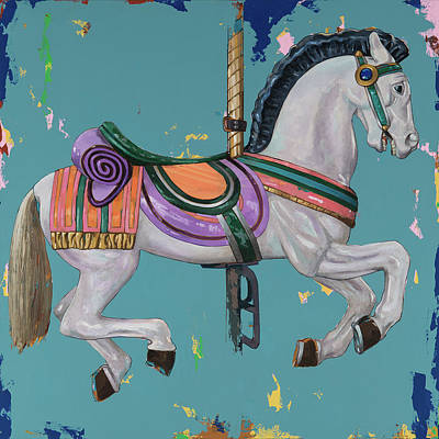 Carousel Painting - Horses #2 by David Palmer