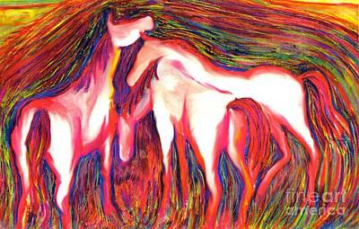 Digital Art - Horses 2 by Helene Kippert