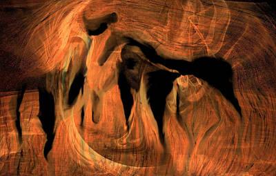 Digital Art - Horses 5 by Helene Kippert