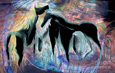 Digital Art - Horses 7 by Helene Kippert