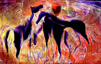 Digital Art - Horses 8 by Helene Kippert