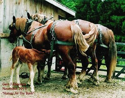 Horses At The Barn H A Art Print
