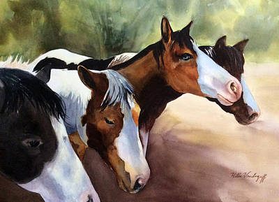 Painting - Horses At The Ranch by Hilda Vandergriff