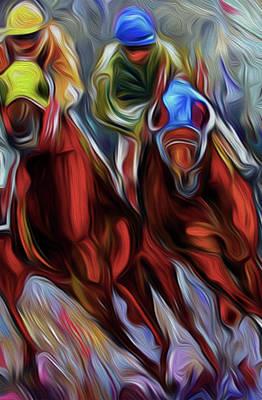 Horses By Nixo Art Print by Nicholas Nixo