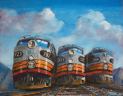 Railroad Painting - Horses For The West by Christopher Jenkins