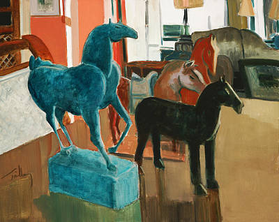 Painting - Horses Four by Thomas Tribby