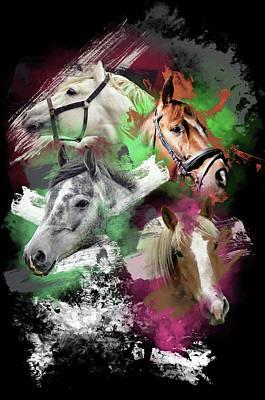 Digital Art - Horses Gone Wild by Davina Washington