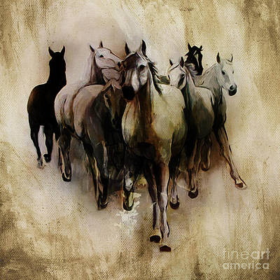 Wild Horse Painting - Horses  by Gull G