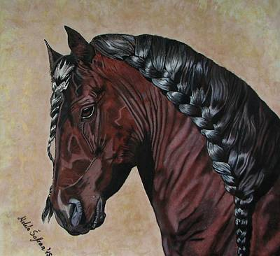 Horse's Haircut Art Print