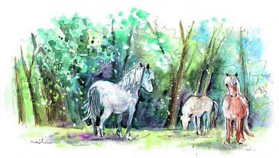 Painting - Horses In Betws-y-coed In Snowdonia  by Miki De Goodaboom