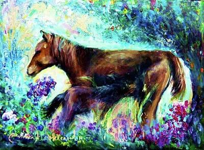 Painting - Horses In My Memory by Wanvisa Klawklean