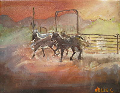 Horses Art Print by Julie Todd-Cundiff